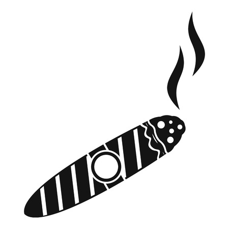 Cigar icon. Simple illustration of cigar vector icon for web Illustration