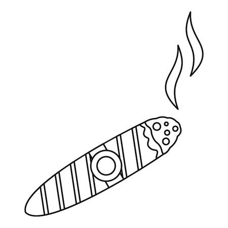 burned: Cigar burned icon. Outline illustration of cigar burned vector icon for web