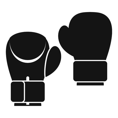 combative: Boxing gloves icon. Simple illustration of boxing gloves vector icon for web
