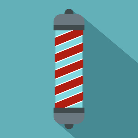 curler: Hair curler icon. Flat illustration of hair curler vector icon for web isolated on baby blue background Illustration