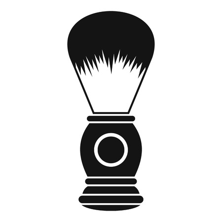 shaving brush: Shaving brush icon. Simple illustration of shaving brush vector icon for web