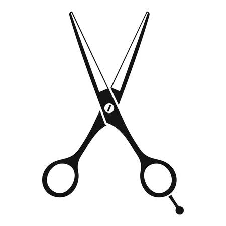Scissors icon. Simple illustration of scissors vector icon for web
