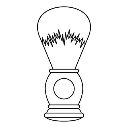 shaving brush: Shaving brush icon. Outline illustration of shaving brush vector icon for web