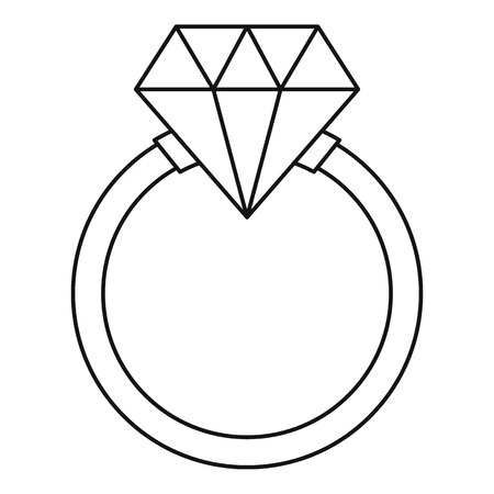wedding ring: Ring   icon. Outline illustration of ring   vector icon for web Illustration