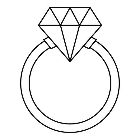 icona Ring. illustrazione Schema di anello icona vettoriale per il web