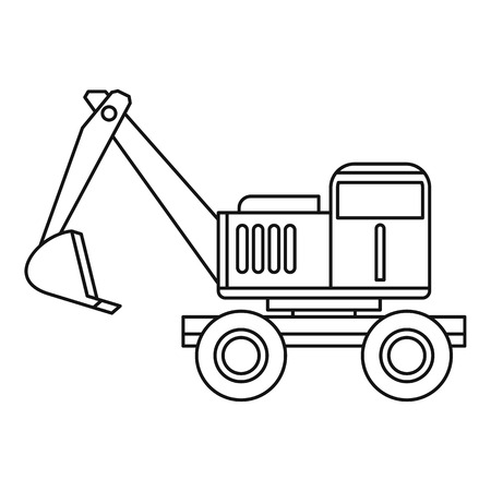 Excavator Icon Outline Illustration Of Vector For Web Stock