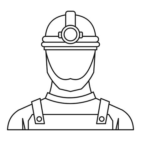 Male miner icon. Outline illustration of male miner vector icon for web Illustration