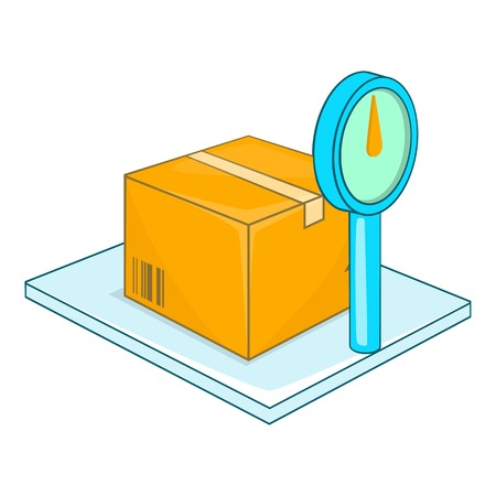 Scales for weighing goods icon. Cartoon illustration of scales vector icon for web design Vektorové ilustrace