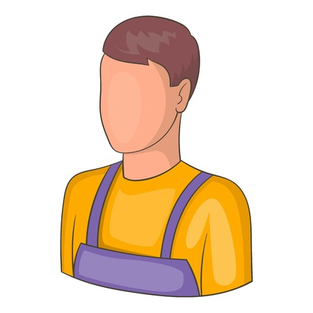 Warehouse worker icon. Cartoon illustration of warehouse worker vector icon for web design Illustration