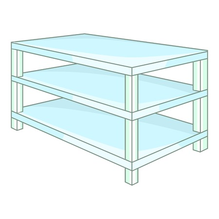 shelving: Industrial shelving icon. Cartoon illustration of shelving vector icon for web design Illustration