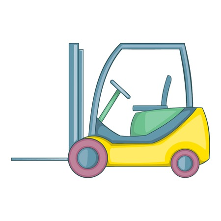Forklift loader icon. Cartoon illustration of forklift loader vector icon for web design