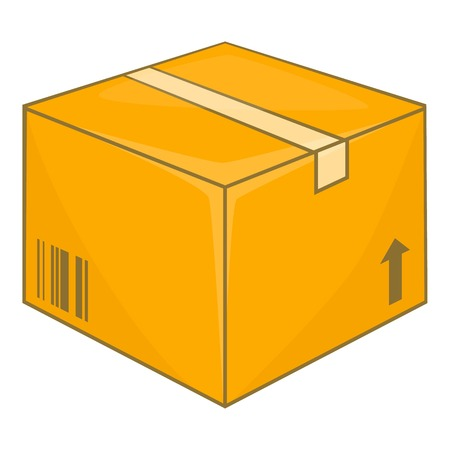 Cardboard box icon. Cartoon illustration of box vector icon for web design
