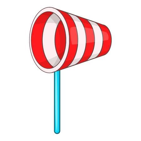 gust: Supplies wind sock icon. Flat illustration of supplies wind sock icon for web