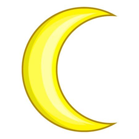 Icône de croissant de lune. Bande dessinée illustration de l'icône de vecteur de lune pour la conception web