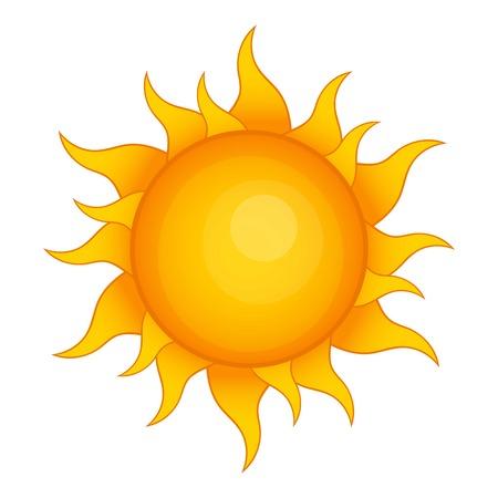 isolated: Sun icon. Cartoon illustration of sun vector icon for web design