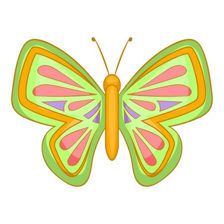 Big butterfly icon. Cartoon illustration of butterfly vector icon for web design