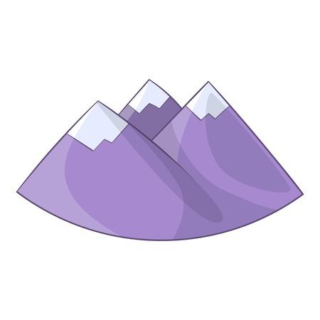 Alps mountain icon. Cartoon illustration of Alps vector icon for web design Illustration