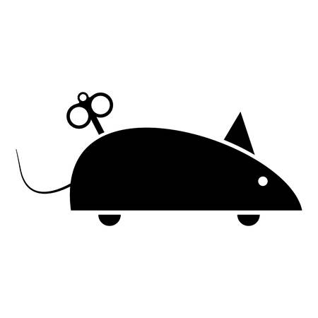 Clockwork mouse icon. Simple illustration of clockwork mouse vector icon for web