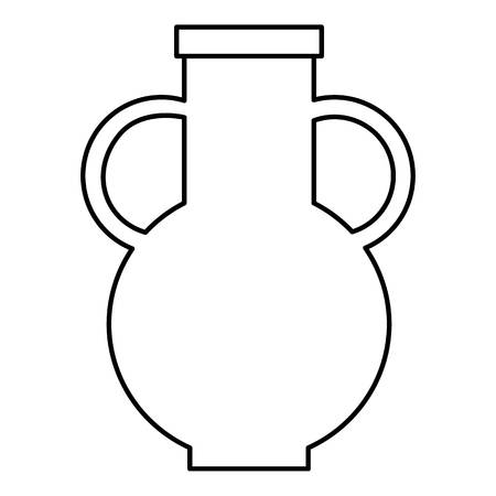 earthenware: Pitcher icon. Outline illustration of pitcher vector icon for web