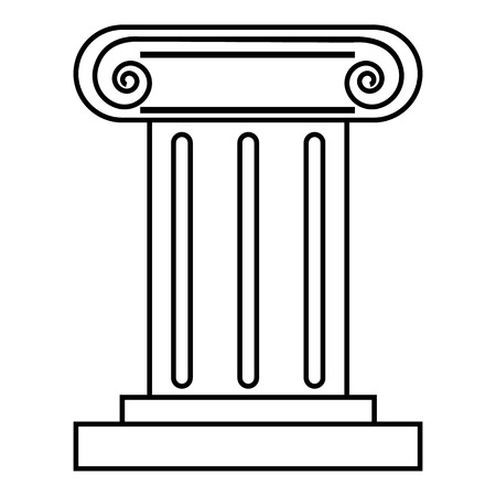 doric: Roman pillar icon. Outline illustration of roman pillar vector icon for web
