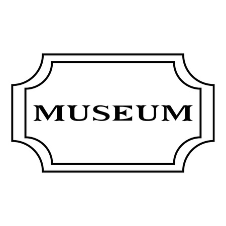 exhibit houses: Sign museum icon. Outline illustration of sign museum vector icon for web