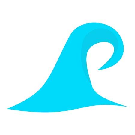 High sea wave icon. Cartoon illustration of high sea wave vector icon for web