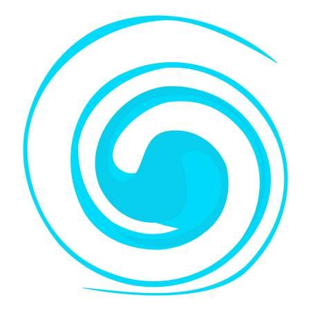 circular wave: Circular wave icon. Cartoon illustration of circular wave vector icon for web Illustration