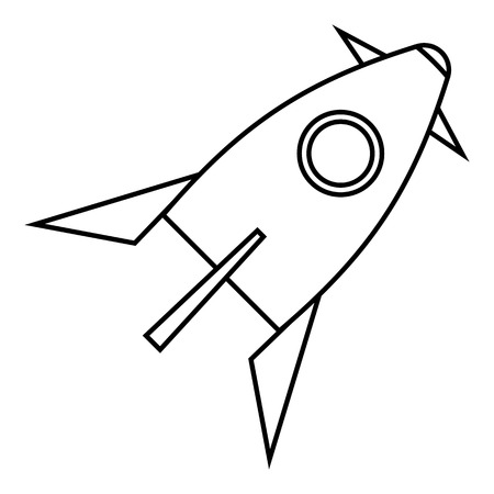 space flight: Rocket for space flight icon. Outline illustration of rocket for space flight vector icon for web