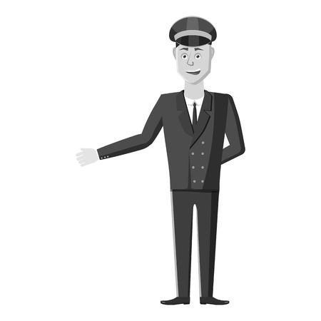 Driver icon. Gray monochrome illustration of driver vector icon for web Illustration