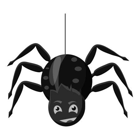 Spider icon. Gray monochrome illustration of spider vector icon for web Illustration