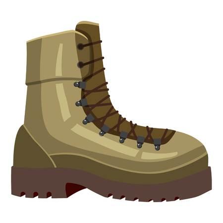 Khaki boot icon. Cartoon llustration of khaki boot vector icon for web