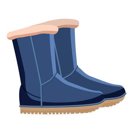 Botas De Invierno Ugg Azul Cálido. Zapatos Cómodos De
