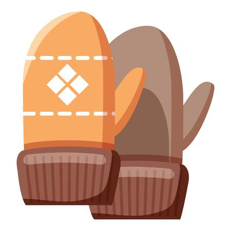 mittens: Mittens icon. Cartoon llustration of mittens vector icon for web