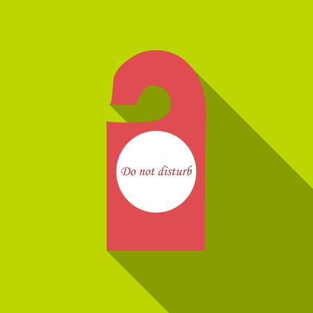 Do not disturb sign icon. Flat illustration of do not disturb sign vector icon for web