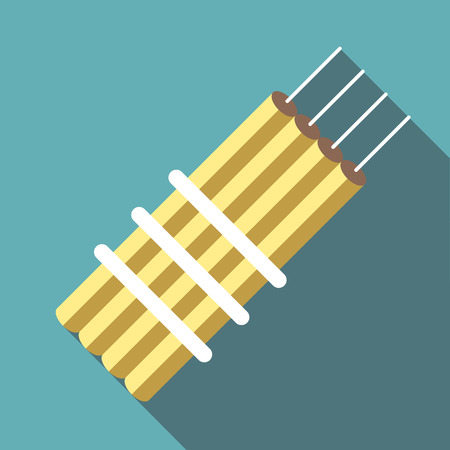 Dynamite icon. Flat illustration of dynamite vector icon for web