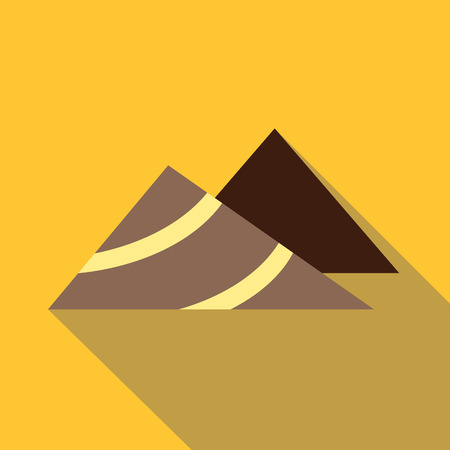 mine site: Mountains icon. Flat illustration of mountains vector icon for web