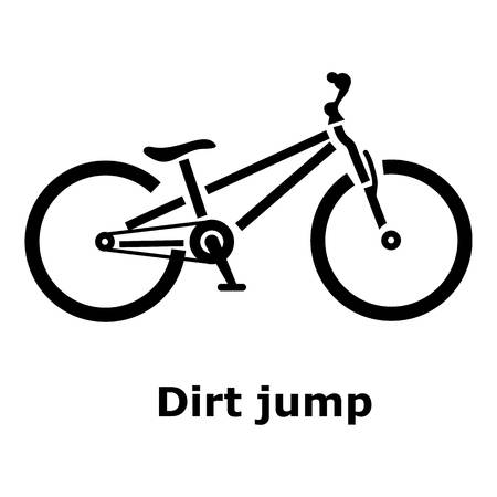 dirt bike: Dirt jump bike icon. Simple illustration of dirt jump bike vector icon for web