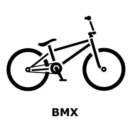 spoke: BMX bike icon. Simple illustration of BMX bike vector icon for web Illustration