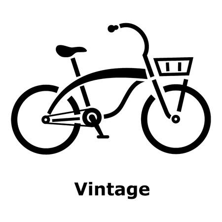 spoke: Vintage bicycle icon. Simple illustration of vintage bicycle vector icon for web Illustration