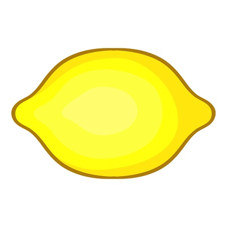 dietary: Lemon icon. Cartoon illustration of lemon vector icon for web