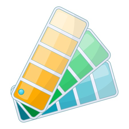 Color swatch icon. Cartoon illustration of color swatch vector icon for web design Illustration
