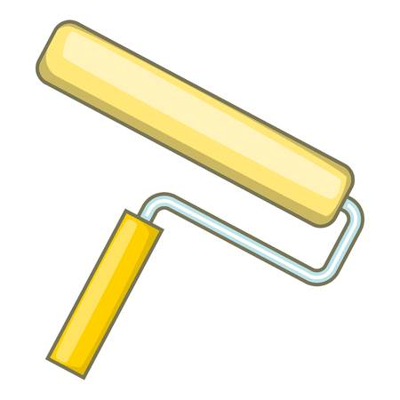 Paint roller icon. Cartoon illustration of paint roller vector icon for web design