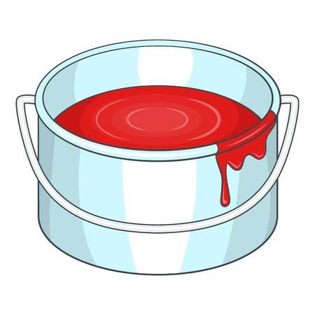 paintbucket: Paint bucket icon. Cartoon illustration of paint bucket vector icon for web design