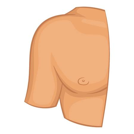 Human shoulder icon. Cartoon illustration of human shoulder vector icon for web design