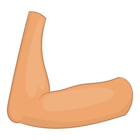 Elbow icon. Cartoon illustration of elbow vector icon for web design