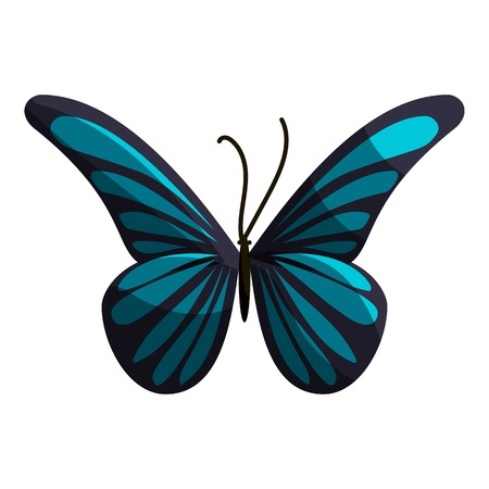 Small butterfly icon. Cartoon illustration of small butterfly vector icon for web Illustration