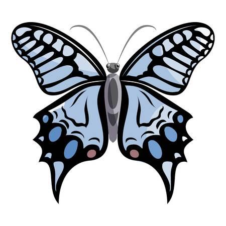 Light butterfly icon. Cartoon illustration of light butterfly vector icon for web Illustration