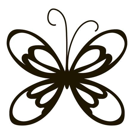 mormon: Small butterfly icon. Simple illustration of small butterfly vector icon for web Illustration
