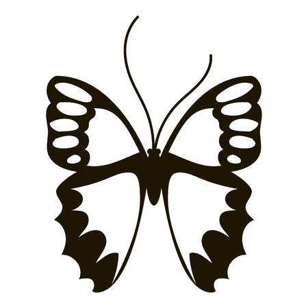 antennae: Nice butterfly icon. Simple illustration of nice butterfly vector icon for web