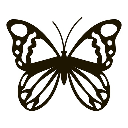 Black butterfly icon. Simple illustration of black butterfly vector icon for web